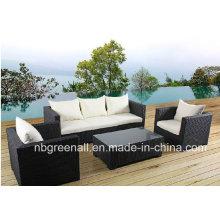Jardim Rattan Móveis Ao Ar Livre Set Sofá De Vime