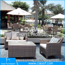 Dubai Hotel Rattan Outdoor Furniture Project