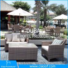 Дубай Гостиничный Проект Ротанга Открытый Мебель
