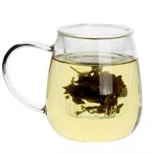 Té taza taza de té de cristal con filtro y tapa vasos