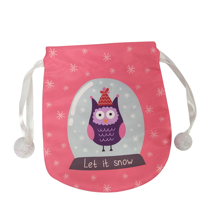 Mini Cute Owl Christmas Gift Bag