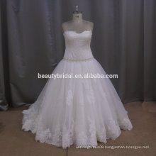 Lace pleated tulle taobao wedding dress new model 2016 wedding dress