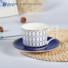 Tasse à café en porcelaine blanc et élégance blanche pour café