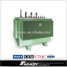 Transformador de 3 fases Depósito de aceite de transformador de potencia sumergido en aceite
