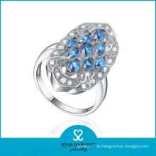 Micro Pave Natürlichen Blue Star Sapphire Ring