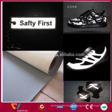 couro reflexivo de venda quente para calçados esportivos