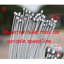 BTT Bicicleta MTB Armação Fixa Bicicleta Brake Linha Shift Shifter Gear Travão Cabo Conjuntos Core Inner Wire Prata Steel Speed line