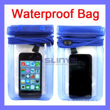 7 Color 3 Zipper Lock Thickness 1mm Waterproof Bag for iPhone Samsung