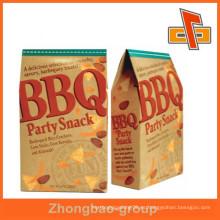 Guangzhou embalaje Bolsa de papel de calidad alimenticia de color marrón bolsa con función de grasa