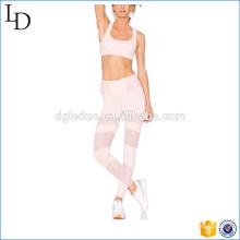 Rosa heißer Verkauf Yoga Sport Kleidung BH und Yoga Hosen Sets für Frauen