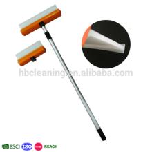 limpiaparabrisas telescópicos de silicona, rasquetas de silicona con mango largo, cuchilla de agua