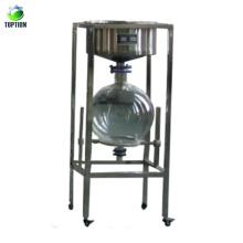Dispositivo de filtro de succión de 10L / 20L / 30L / 50L de gran capacidad / filtro de humo de vidrio