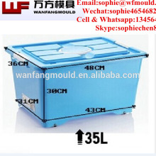 Factory direct sales Low Price 33L Plastic injection Storage Box Mould with high quality Moldes de Cajas con tapa