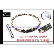 Health Germanium Titanium Colorful Braided Rope Necklace For Reducing Inflammation