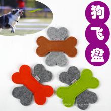 Peluche chien jouet de la nature feutre chien frisbee jouets mous chien volant animaux jouets grinçants