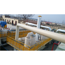 Latest tecgology continuous used rubber pyrolysis oil plant