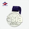 Médaille cadeau souvenir étoilé argenté