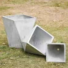Maceta de hormigón especial para jardín grande al aire libre