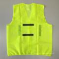 Жёлтый дешевый сетчатый жилет безопасности с отражающей полосой ОАЭ
