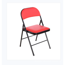 Wholesale black padded metal folding chairs