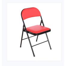 Wholesale cadeiras dobráveis de metal acolchoadas pretas