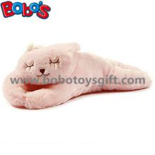 Pelúcia macia cor-de-rosa coelho do brinquedo do animal de pelúcia coelho longo corpo travesseiro