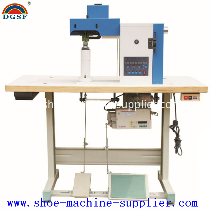 Leather Edge Gluing And Pounding Machine
