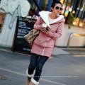 2015 Fashion Casual Thicken Oblique Zipper Hooded Women Hoodies (50006)