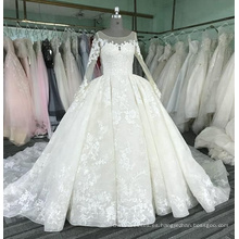 Vestido de novia vestido de bola de manga larga 2017 de lujo WT331 Vestido de novia