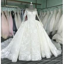 С длинным рукавом бальное платье свадебное платье роскошные 2017 WT331 vestido де novia