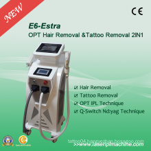 Professional 2 in 1 IPL Elight Q-Switch Hair Removal Machine