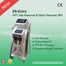 Profissional 2 em 1 Máquina de remoção de cabelo Elight Q-Switch IPL