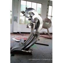 Sculpture en acier inoxydable Spray Matte SculpturePour Jardin / Extérieur