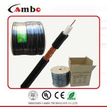 El mejor cable 75ohm / 50ohm del cambo RG59 del precio de la alta calidad con el certificado CCS / BC del CE / UL / ISO9001 del certificado fábrica / fabricante en shenzhen