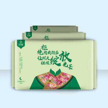 Cottony Sanitary napkins with Wings