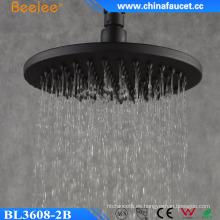 Beelee - Cabezal de ducha de lluvia, negro, latón, bronce frotado, con aceite de abeja