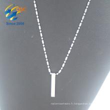Dessins personnalisés en gros belle chaîne en acier inoxydable argent pendentifs chaînes