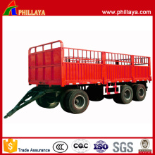 3 Axles 50 Tons Cargo Transport Draw Bar Trailer