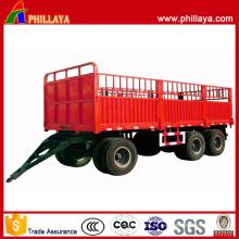 3 eixos 50 toneladas de reboque de barra de tração de transporte de carga