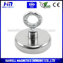 Pote magnético de neodímio com gancho fechado
