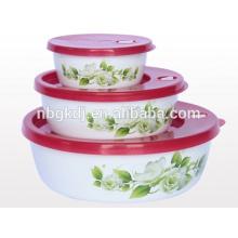 3pcs 100% titanium enamel cookware/enamel bowl