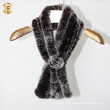 Real Rex Rabbit Fur Winter Infinity Warm Snood Scarf