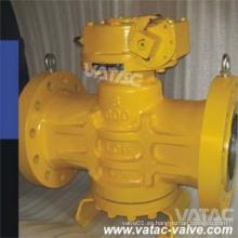Válvula de enchufe excéntrica lubricada accionada eléctricamente / neumática