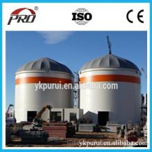 Silo galvanisé en spirale de haute qualité pour ensemble de machine à silo à rangement de maïs