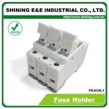 FS-033L1 Rail Mounted With Indicator 110V 32A 3 Way Cartridge Fuse Carrier