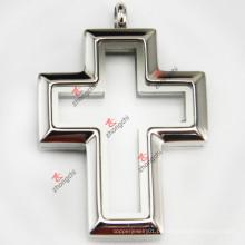 Cruz de aço inoxidável medalhão pingente preço de fábrica barato