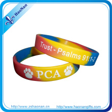 Bracelet personnalisé fait sur commande de bracelets de silicone de logo