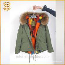 Factory Wholesale Custom Jacket Fox épaissi à capuche véritable fourrure Parka