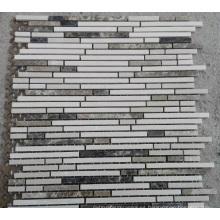 Mosaico de mosaico lineal mosaico de mármol (HSM222)