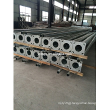 Steel material Galvanized EN1461 street lamp pole